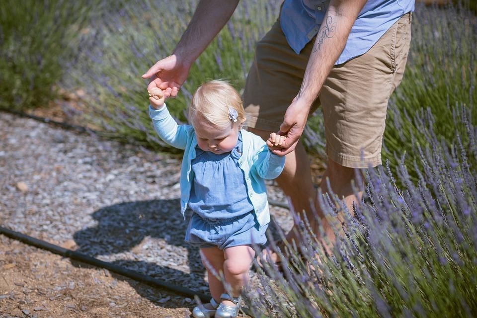 När ett barn börjar gå