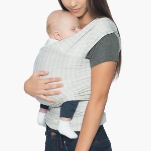 Bästa bärsjalarna - Aura Randig Baby Bärsjal Grå